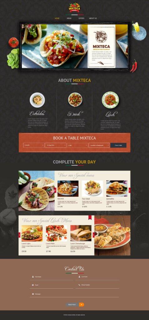 Mixteca WordPress Home Page Design by Macinfosoft