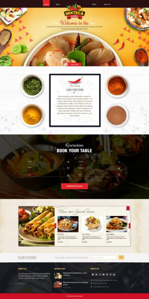 Mixteca WordPress Home Page Design 2 by Macinfosoft