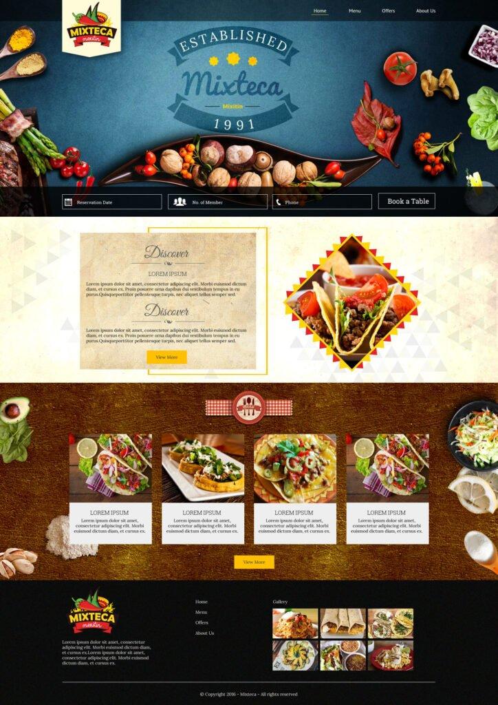 Mixteca WordPress Home Page Design-3 by Macinfosoft